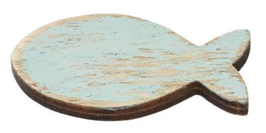 3270308 Fische Holz 4.5cm, 5St. türkis