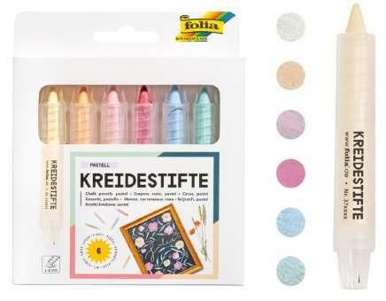 522032 Kreidestifte Set 6 Farben pastell