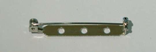 522457 Broschennadeln 38mm silber  4 St