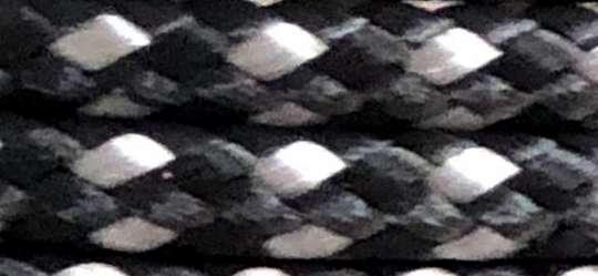 523050 Paracord 4mm/15m, schwarz-silber