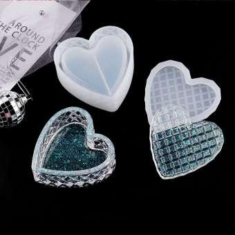 526141 Silikonform Herz Box Diamant 7x8cm H3cm