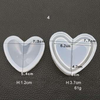 526144 Silikonform Box Herz 7.5x5.5cm/ H4cm