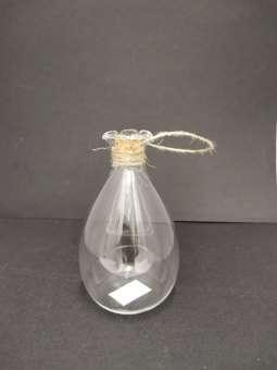 581071 Glasflasche 8x13cm m.Kork und Schnur