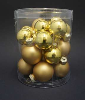 599708 Christbaumkugeln 2.5-3cm 20St. gold