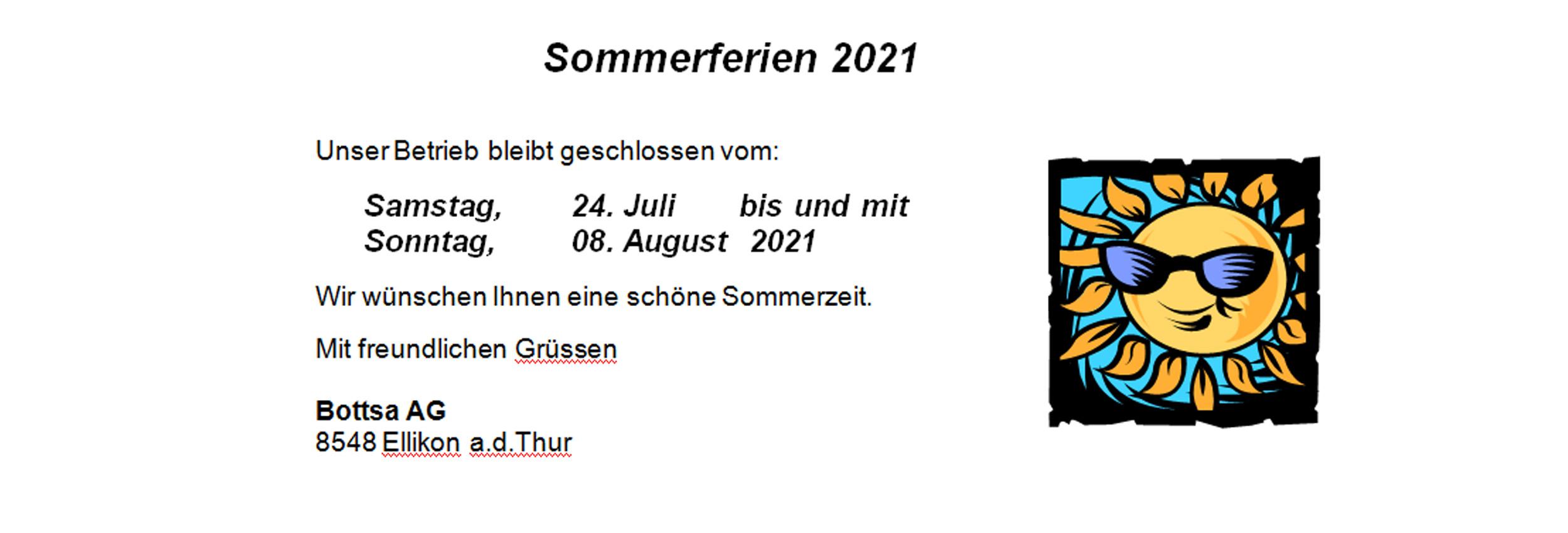 Ferien 2021